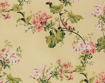 Shabby Chic Vintage Floral Wallpaper Pale Blue Country Etsy Vintage Floral Wallpapers Chic Wallpaper Shabby Cottage
