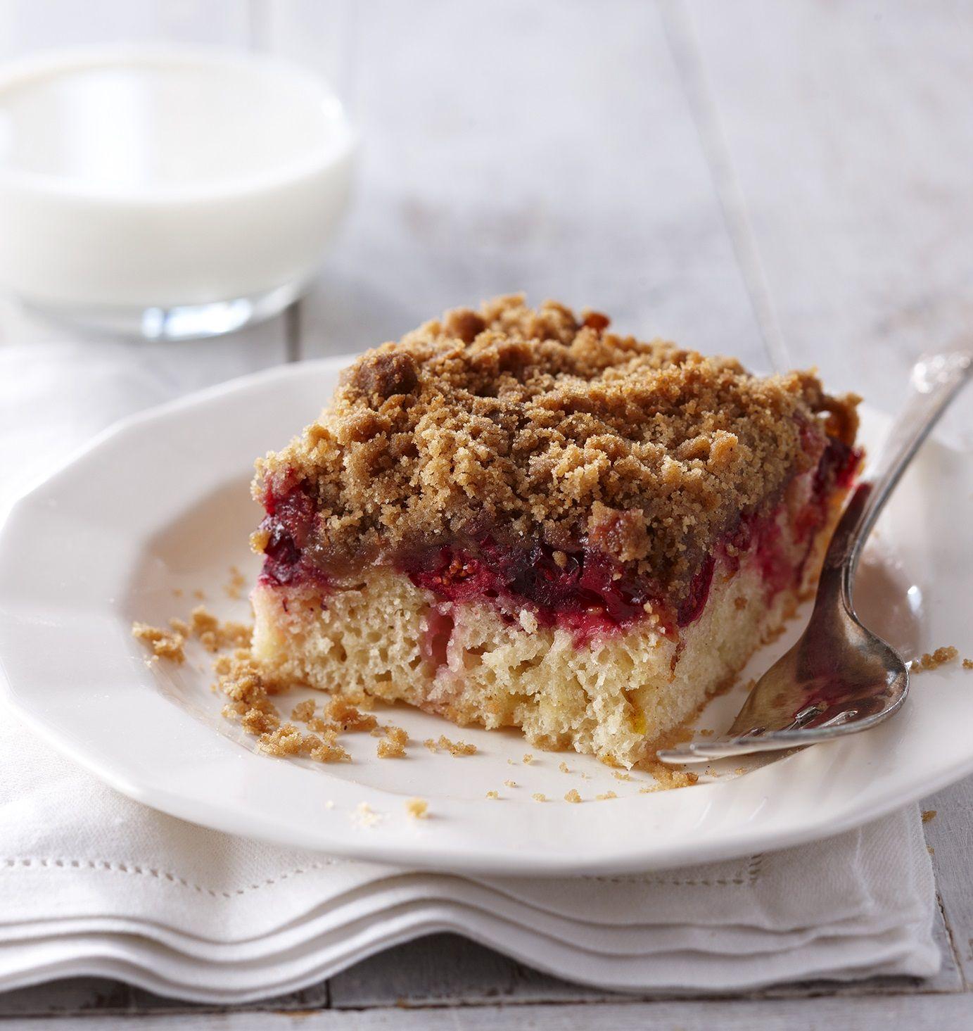Orange & Cranberry Crumb Cake | Receta | Arándanos agrios, Tortas ...