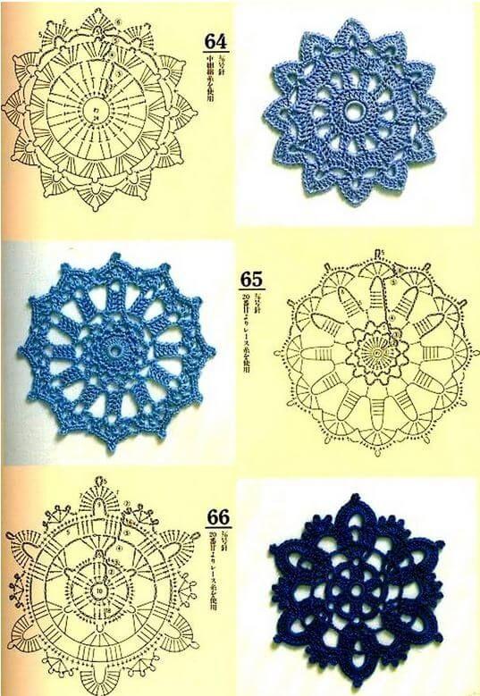 40 Esquemas Crochet de Motivos Circulares | Todo crochet | Crochet ...