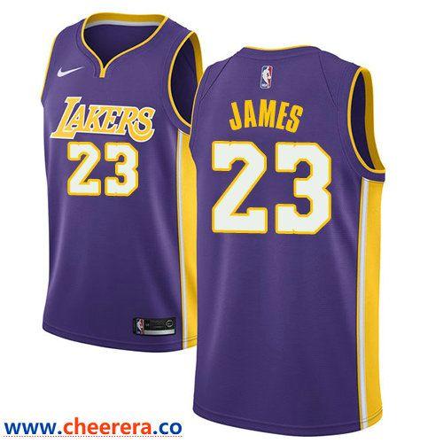 9ebbaee33bd9 Men s Nike Los Angeles Lakers  23 LeBron James Purple NBA Swingman  Statement Edition Jersey