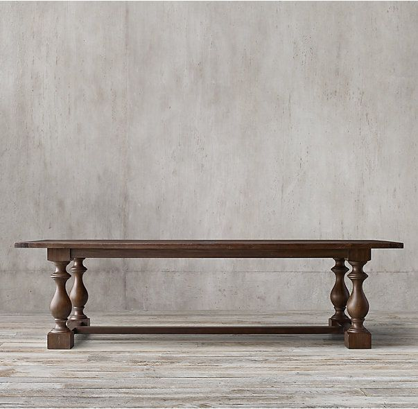 """17th C. Monastery Rectangular Dining Table--I have this in the 60"""" round and I seriously love it so much."""