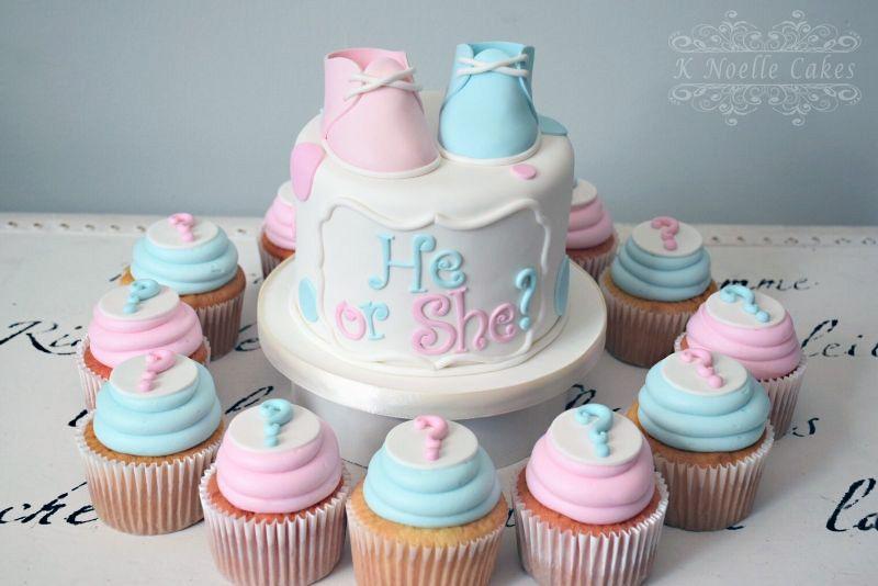 He Or She Gender Reveal Cake By K Noelle Cakes Baby Shower Gender Reveal Cake Gender Reveal Cake Baby Reveal Cakes