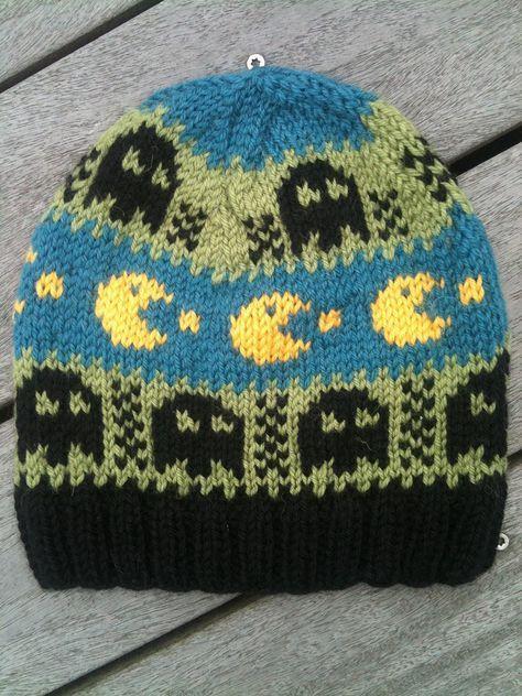 12e525fc597 Free knitting pattern for Pac Man Hat