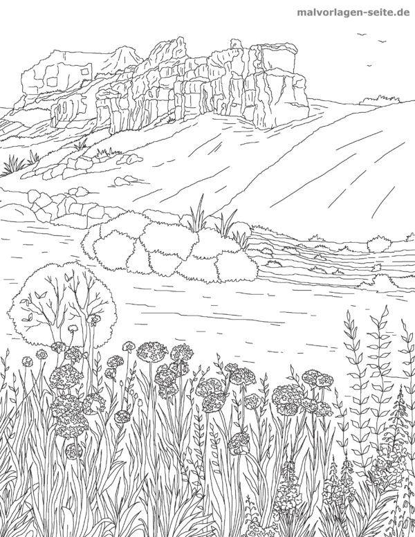 Malvorlagen Landschaften Gratis Download