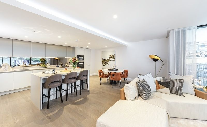 Beautiful Open Plan Living At The Dumont, Situated Along The Albert  Embankment. The Floor To Ceiling Windows Give You Dream Views Of The Key  London ...