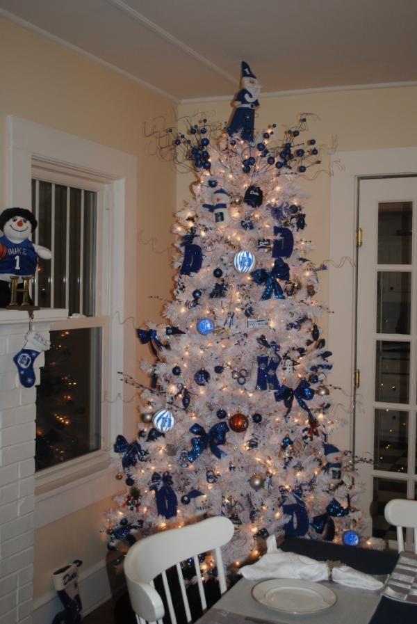 Duke Christmas Tree Beautiful NAVIDAD Pinterest Duke - blue and silver christmas decorationschristmas tree decorations