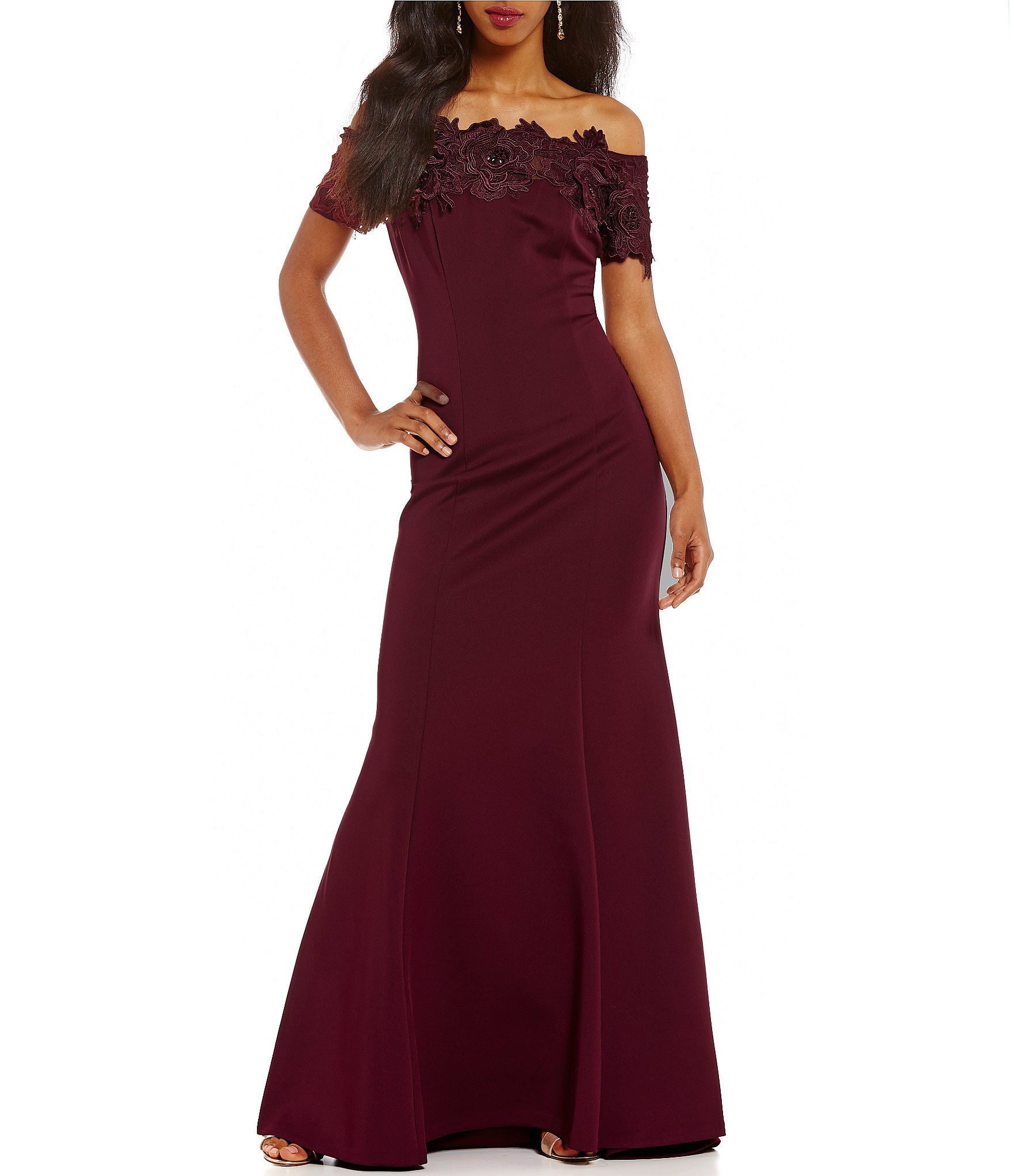 Shop for Ignite Evenings Lace Off-The-Shoulder Gown at Dillards.com ...
