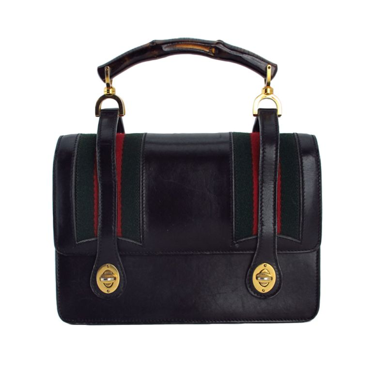 f7d967c1ca12 1stdibs - Rare Gucci bamboo handle handbag 1960s explore items from 1,700  global dealers at 1stdibs.com