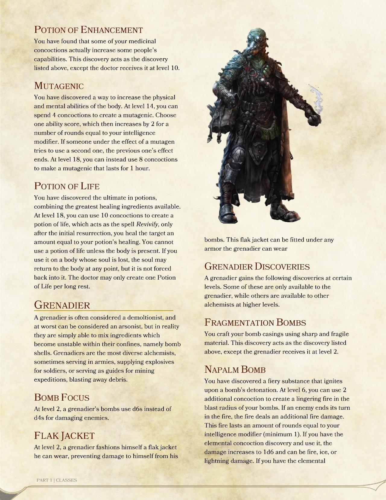 DnD 5e Homebrew — Alchemist Class by BloodShot9001 | Classes