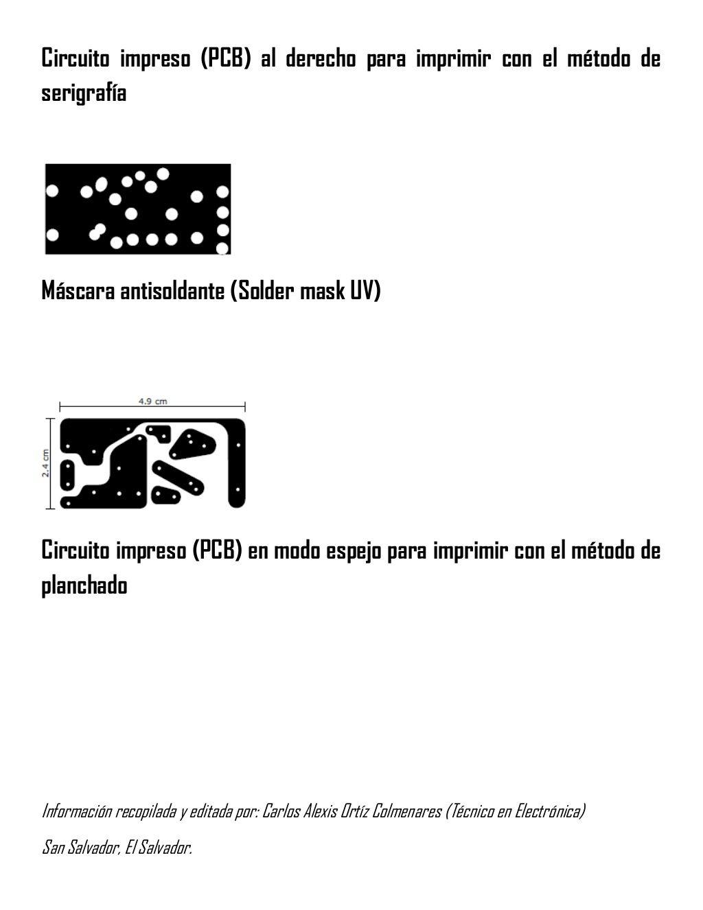 Circuito And : Circuito impreso pcb al derecho para imprimir con el método de