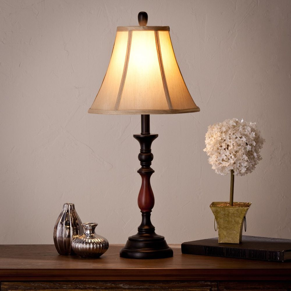Harper Blvd Edmond Table Lamp with Ivory Trumpet Shade Traditional Home Decor #HarperBlvd