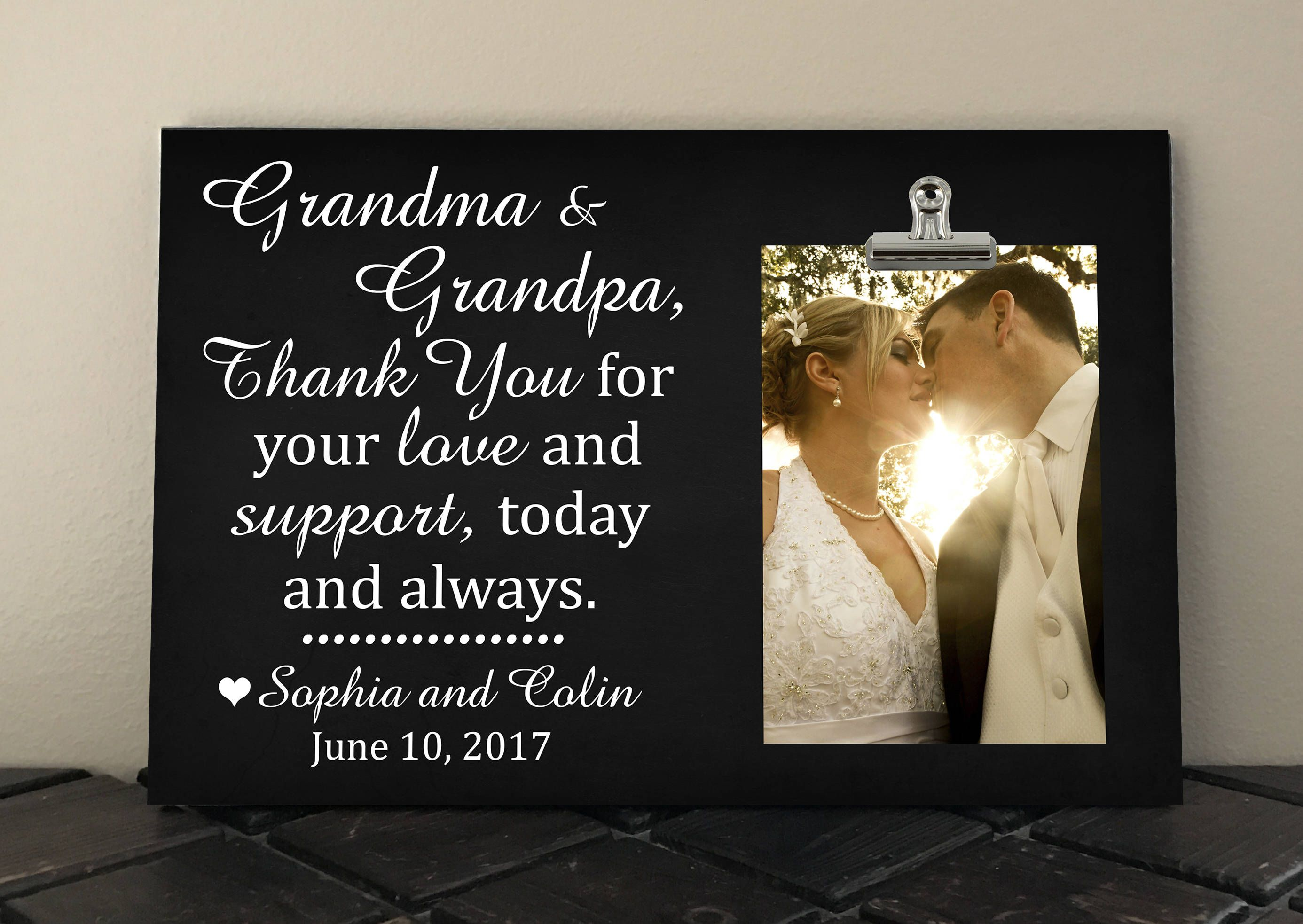 Grandparents Gift, Personalized Wedding Frame, Thank You Wedding Gift, Free