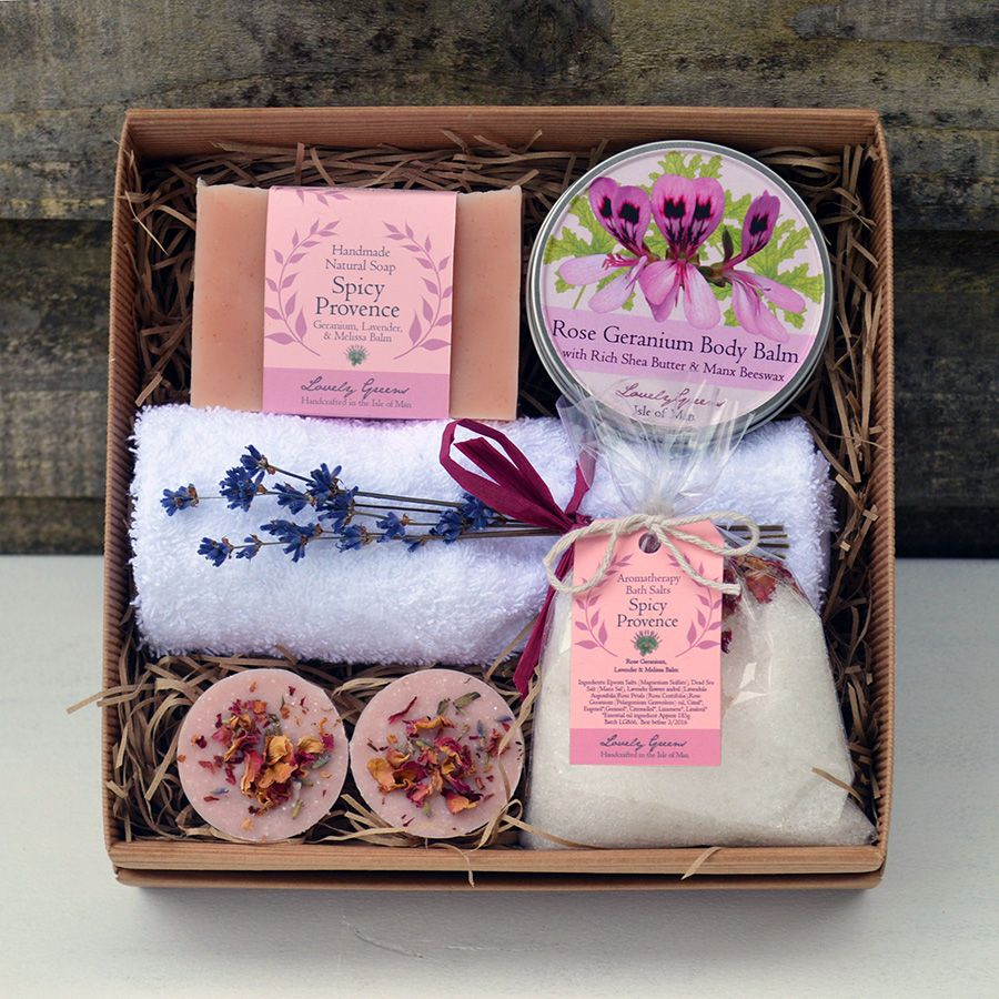 A array of Rose Geranium and Spicy Provence