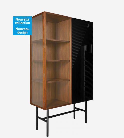 buffet habitat achat eskyss buffet haut vitrine en noyer. Black Bedroom Furniture Sets. Home Design Ideas