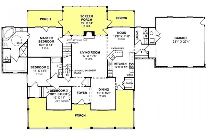 655892 - 3 Bedroom 2 Bath Country Farmhouse with split floor plan ...