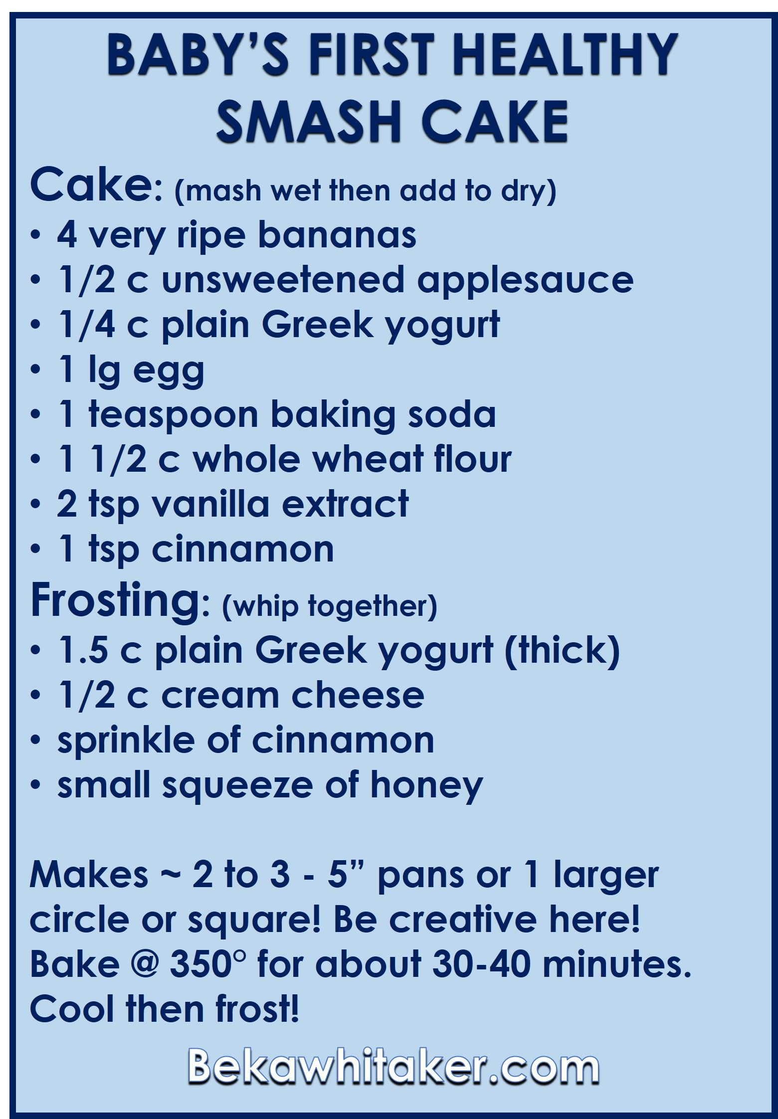 healthy smash cake directions beka web | Recipes to Try | Pinterest ...