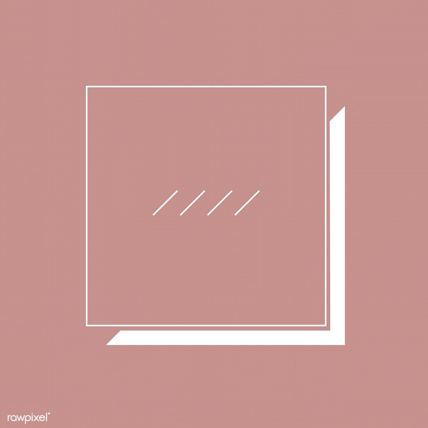 Square Badge On Brown Background Vector Free Image By Rawpixel Com Busbus Vector Free Instagram Template Design Instagram Frame Template