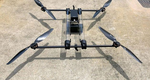 Hydrogen Powered Drone Will Fly For Hours At A Time Multirotor Drones Hydrogen Fuel Cell Drone Quadcopter