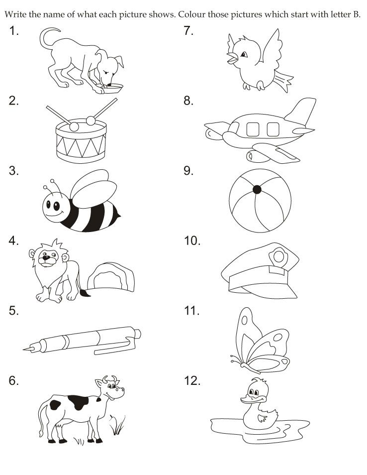 Download English Activity Worksheet Colour Those Pictures Which Start With Letter B From Bestco English Activities Preschool Worksheets Fun Worksheets For Kids
