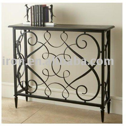 Wrought Iron Console Furniture Idee Deco Fer Forge Deco