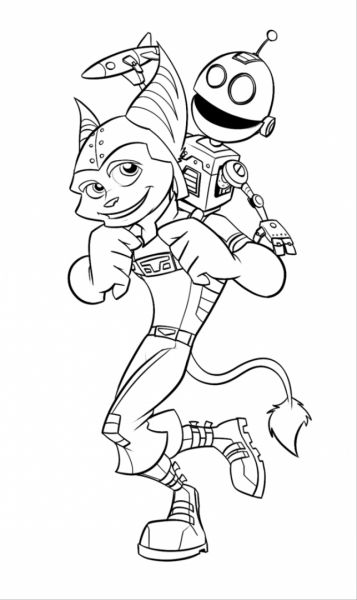 Ratchet and clank coloring pages murderthestout for Ratchet coloring pages