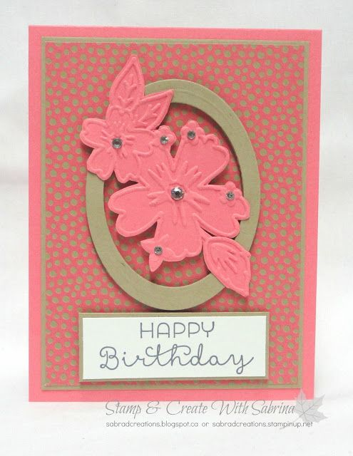Stamp & Create With Sabrina: Fussy Cutting Texture Embossed Images - Affectionately Yours with Floral Affection