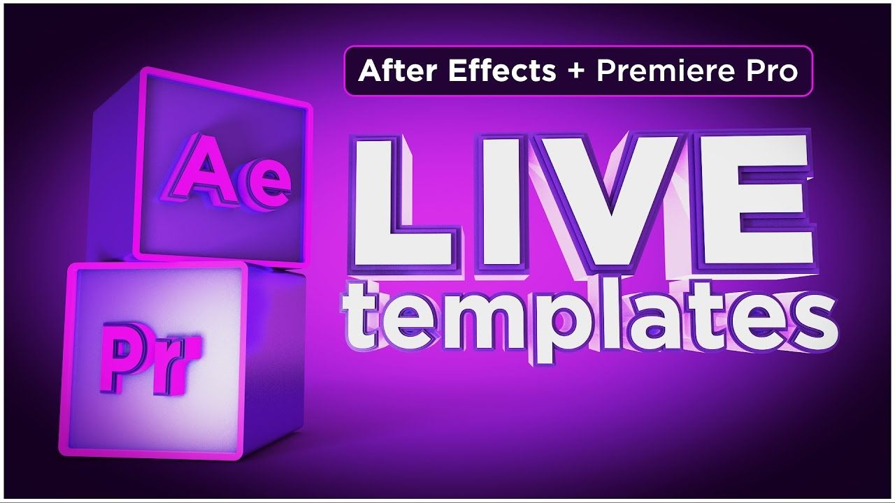After Effects Cc 2017 Tutorial Create Live Templates For Use In Premiere Pro Cc 2017 Youtube Tutorial After Effects After Effect Tutorial