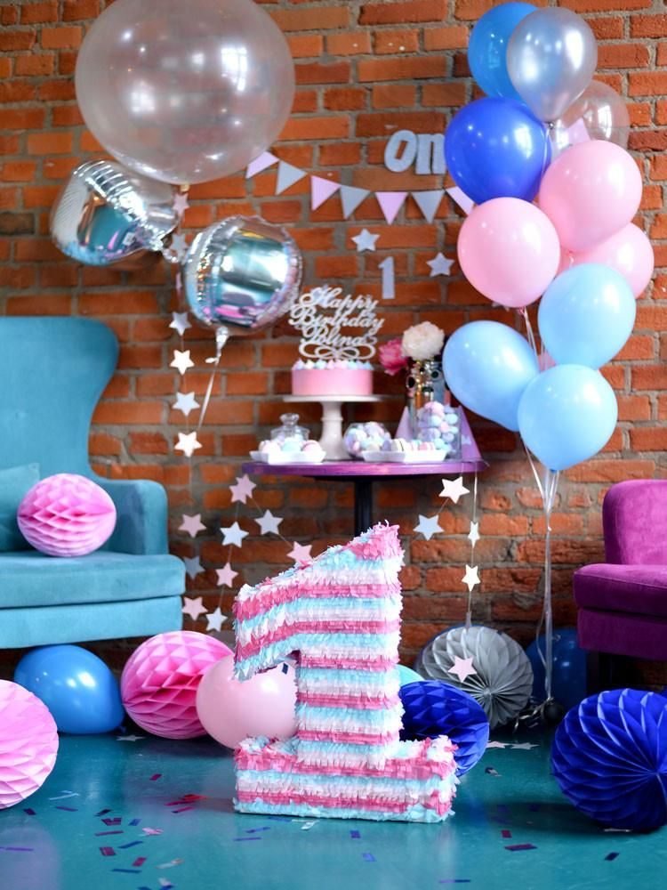Birthday Party Background Balloons Backdrop Brick Wall