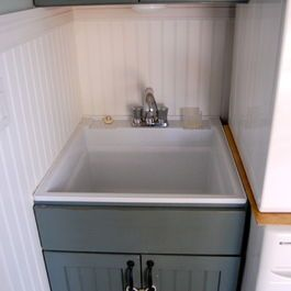 Plastic Sink Makeover Laundry Room Remodel Laundry Room Sink
