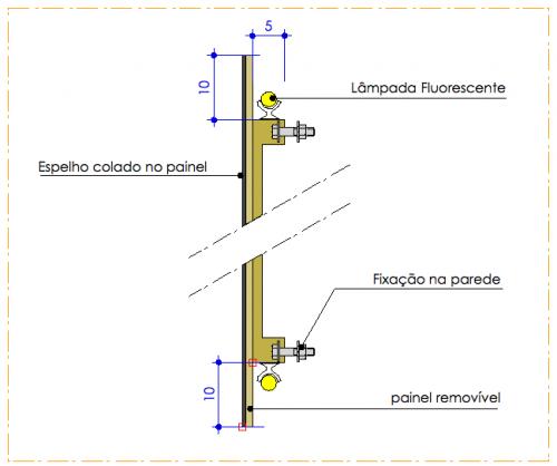 Banheiro deficiente dimensoes : Medidas e detalhamento de ilumina??o embutida para