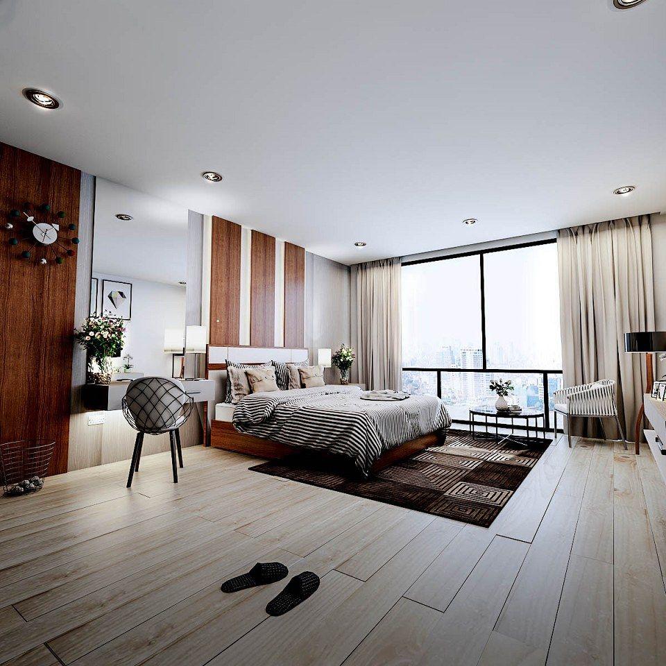 Master Bedroom Vray Render By Taedsak Kaewchay Archi