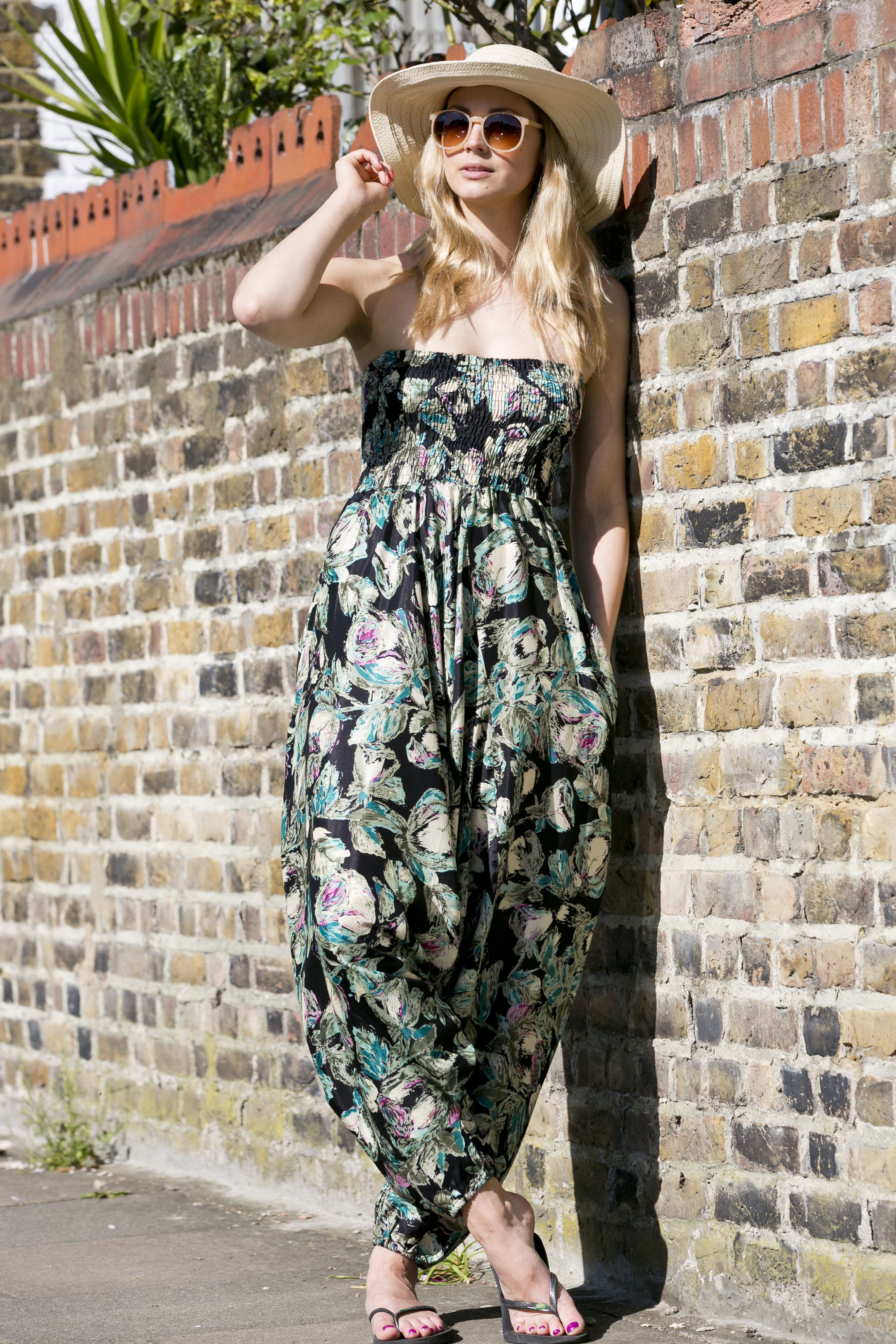 60abf069d6 silk look maxi harem jumpsuit from www.likemary.com Cotton Jumpsuit