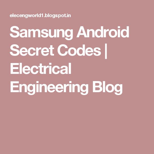 Samsung Android Secret Codes