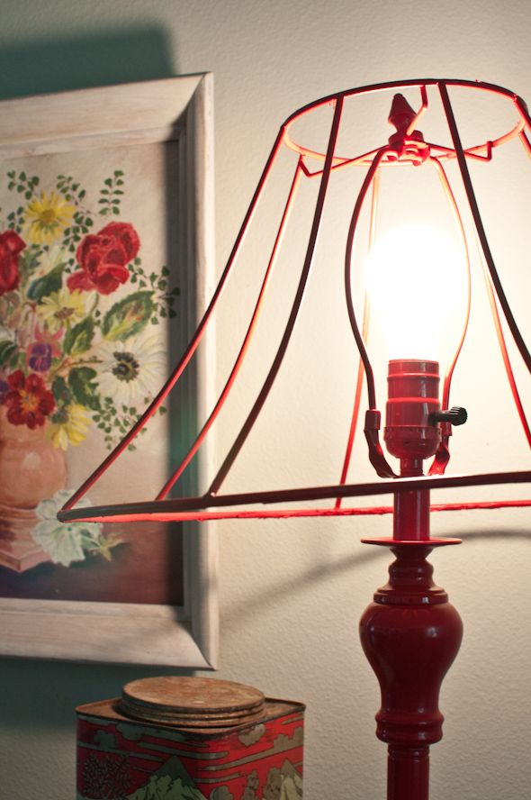 Diy wire lampshade makeover h o m e pinterest wire lampshade diy wire lampshade makeover greentooth Image collections