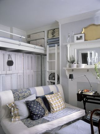 Space from high ceilings in small room use for storage shelf | For ...