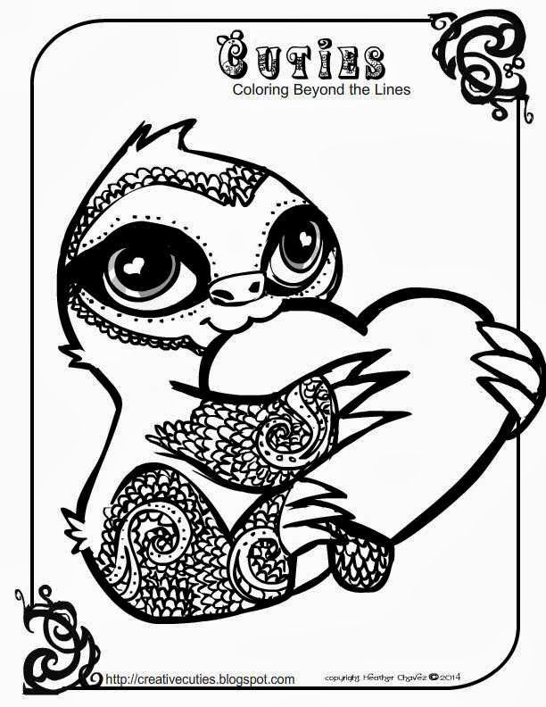 Creative Cuties Baby Sloth Coloring Page Coloring Books Cute Coloring Pages Animal Coloring Pages