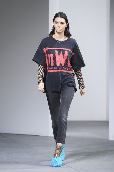 Model Kendall Jenner rehearses on the runway before the Michael Kors Collection Fall 2017 runway show at Spring Studios on February 15, 2017 in New York City.
