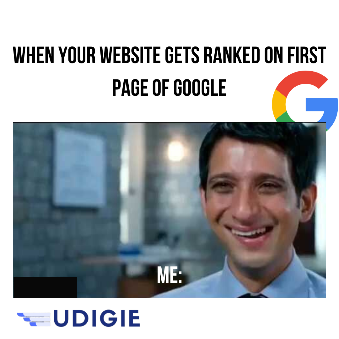 When Your Website Gets Ranked On First Page Of Google You Feel Like Marketing Meme Marketing Strategy Social Media Digital Marketing
