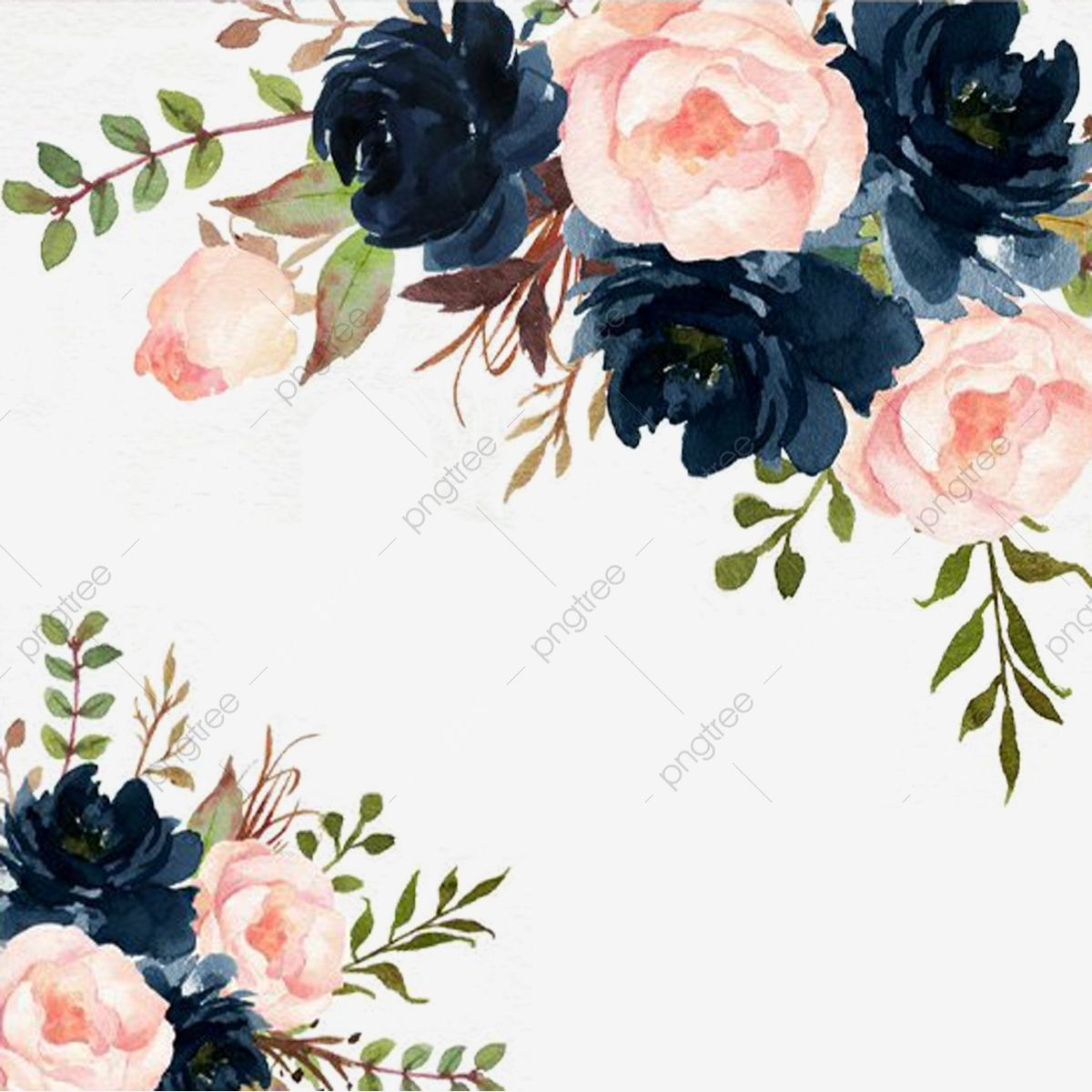 Watercolor Flowers In 2020 Watercolor Flower Vector Watercolor