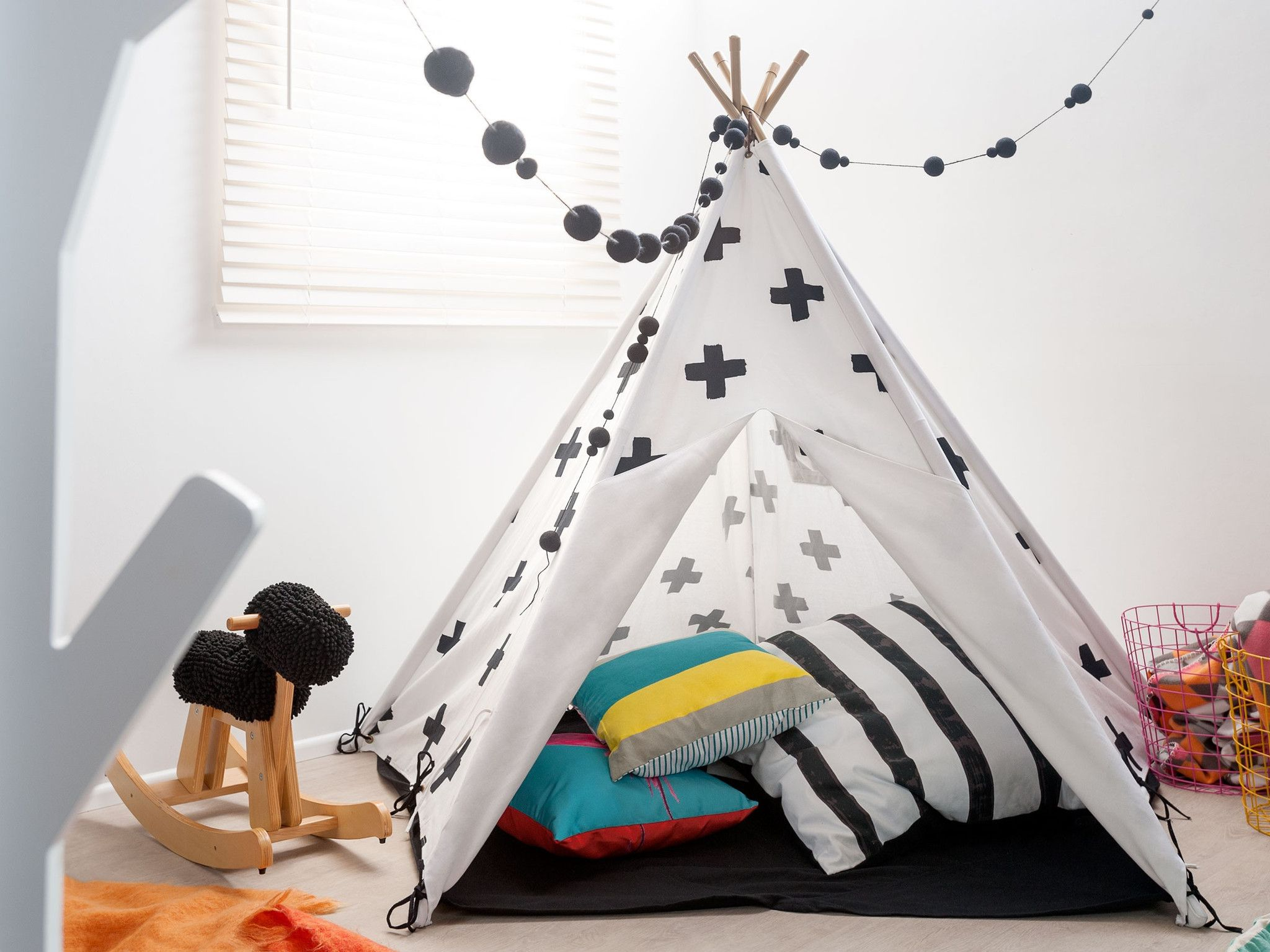Mocka Childrens Teepee Play Tent & Mocka Childrens Teepee Play Tent | Childrens teepee Teepee play ...