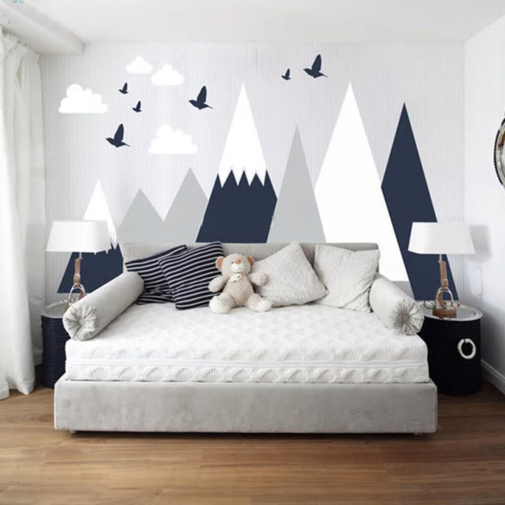 Best Large Mountain Mural For Childrens Bedroom In 2020 Baby 640 x 480