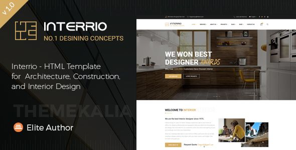 Charmant Interrio   HTML Template For Architecture, Construction, And Interior Design