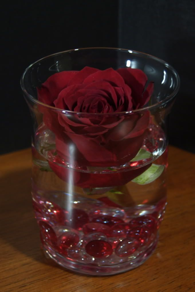 Floating Red Freedom Rose Simple Centerpieces Rose Centerpieces Votive Holder