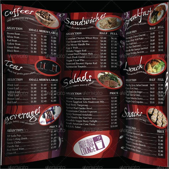 Coffee  Cafe Menu Template u2013 20+ Free PSD, EPS Documents Download - sample cafe menu template