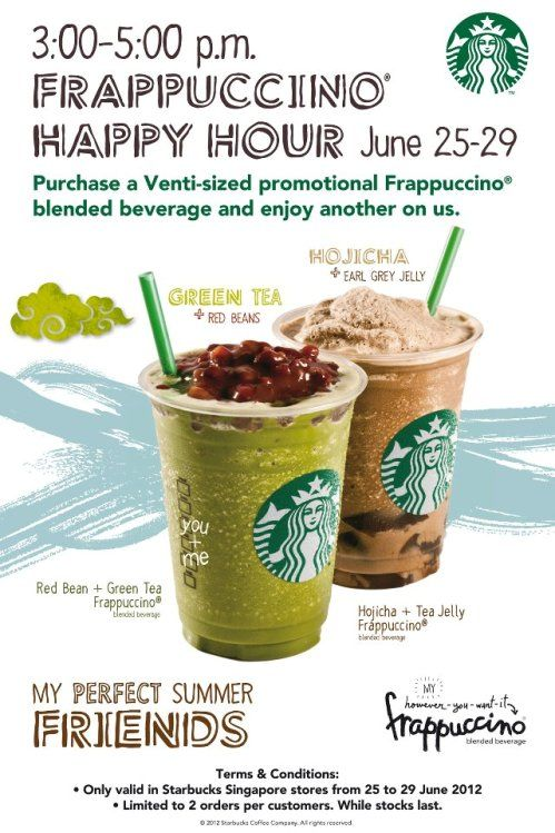 Enjoy 1 For 1 Starbucks Frappuccino Promotion
