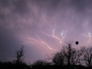 April 13 2013 lightning, my Son Ben took this one in our back yard.