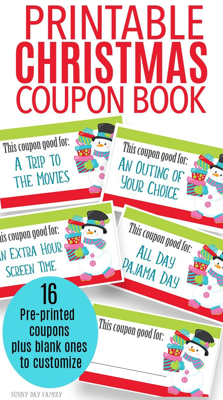 printable christmas coupons for fun gift experiences