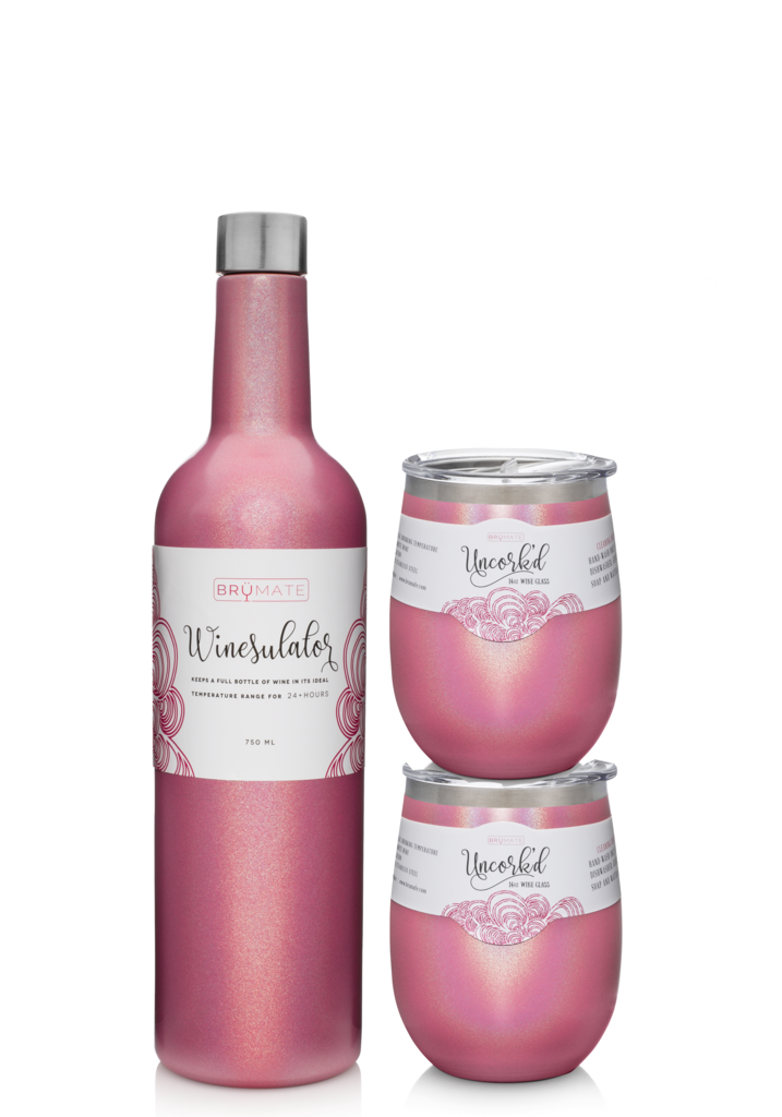 3f673721b64 Includes 1 Winesulator and 2 matching Uncork'd XL 14oz Wine Glasses! GIFT  SET REVIEW: The Winesulator was designed to fit a full bottle of wine and  keep it ...