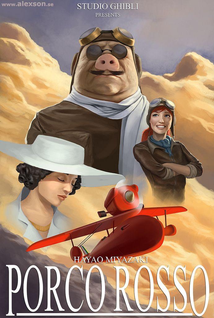 Reinvented Miyazaki movie posters: Porco Rosso