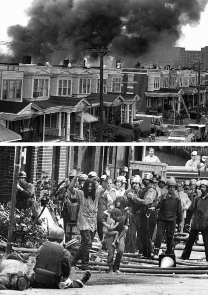 in 1985 the philadelphia police ordered a bomb strike on members of the move organization living in the middle of a heavily populated black neighborhood